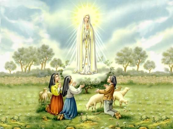 FATIMA : histoire des miracles  Dessin-NDame-Fatima-Apparition-01
