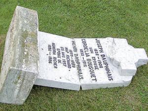 Profanation au salon funéraire et dans les cimetières au Québec St-Denis-sur-Richelieu