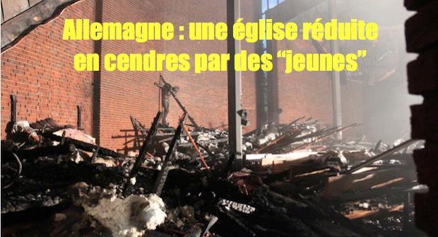 Église incendiée par des jeunes Hanovre