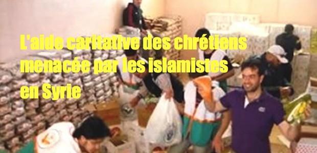 Syrie: église menacée pour distribuer de l'aide aux musulmans Syria_AId_DIstribution_4X3-620x300