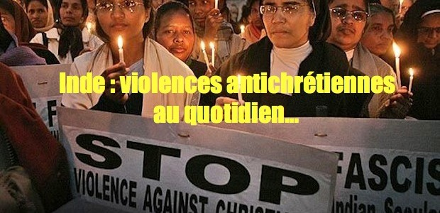 Inde: violences enlèvements conversions forcés. Samplestop-violence-against-indian-christians-620x300