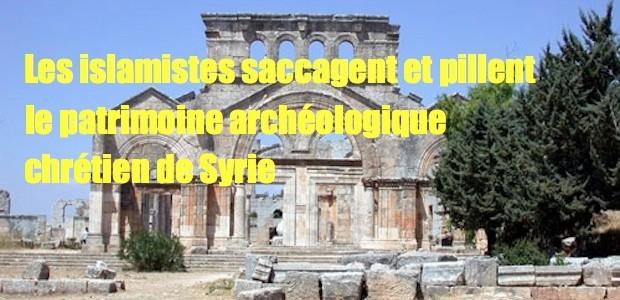 Patrimoine chrétien saccagé et pilé par les islamistes Deir-Mar-Semaan-620x300