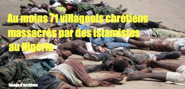 Nigéria 71 villageois chrétiens tués par des islamistes Boko-haram-nigeria-619x300