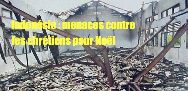 Indonésie: menaces d'attentats antichrétiens pour Noel Chrstians-indonesia-620x300