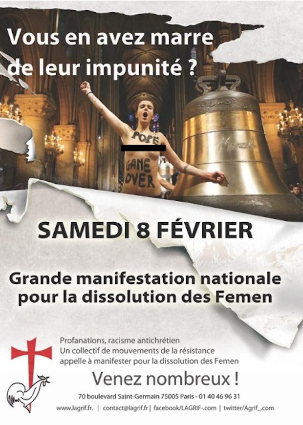Dissolution de Femen France Manif-anti-Femen-Paris