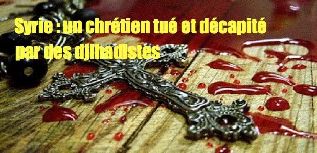 Syrie: encore un jeune chrétien tué et décapité par les islamistes Cross-blood-620x300