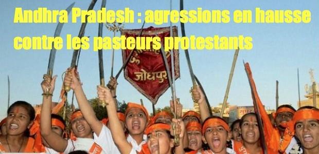 christianophobie en hausse du fait des extrémistes hindouistes Hindu-Vahini-620x300