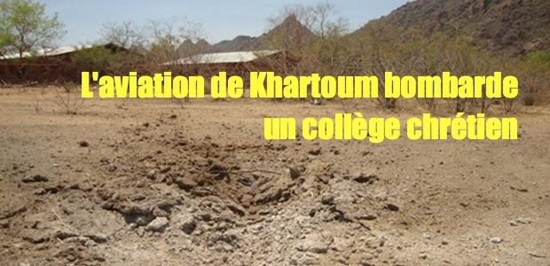 Collège chrétien bombardé Sudanschool
