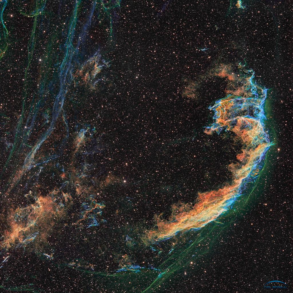 NGC6992 (Dentelles) en SHO -  AP155 en 102 Hrs Photo58