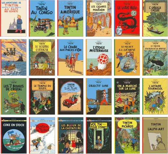Quel livres ont marqué votre enfance ?  - Page 2 Tintin-Albums