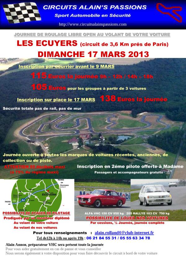 Circuit des Ecuyers 17 Mars reporté au 1er Avril 2013 Ecuyers-17-mars-2013-flyer