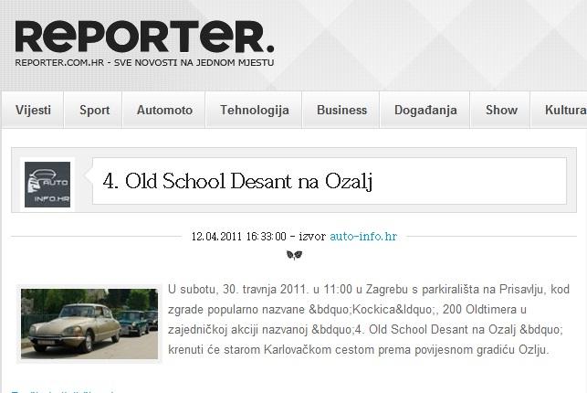 4. OLD SCHOOL DESANT NA OZALJ 30.4. - 01.05.2011. Ssss