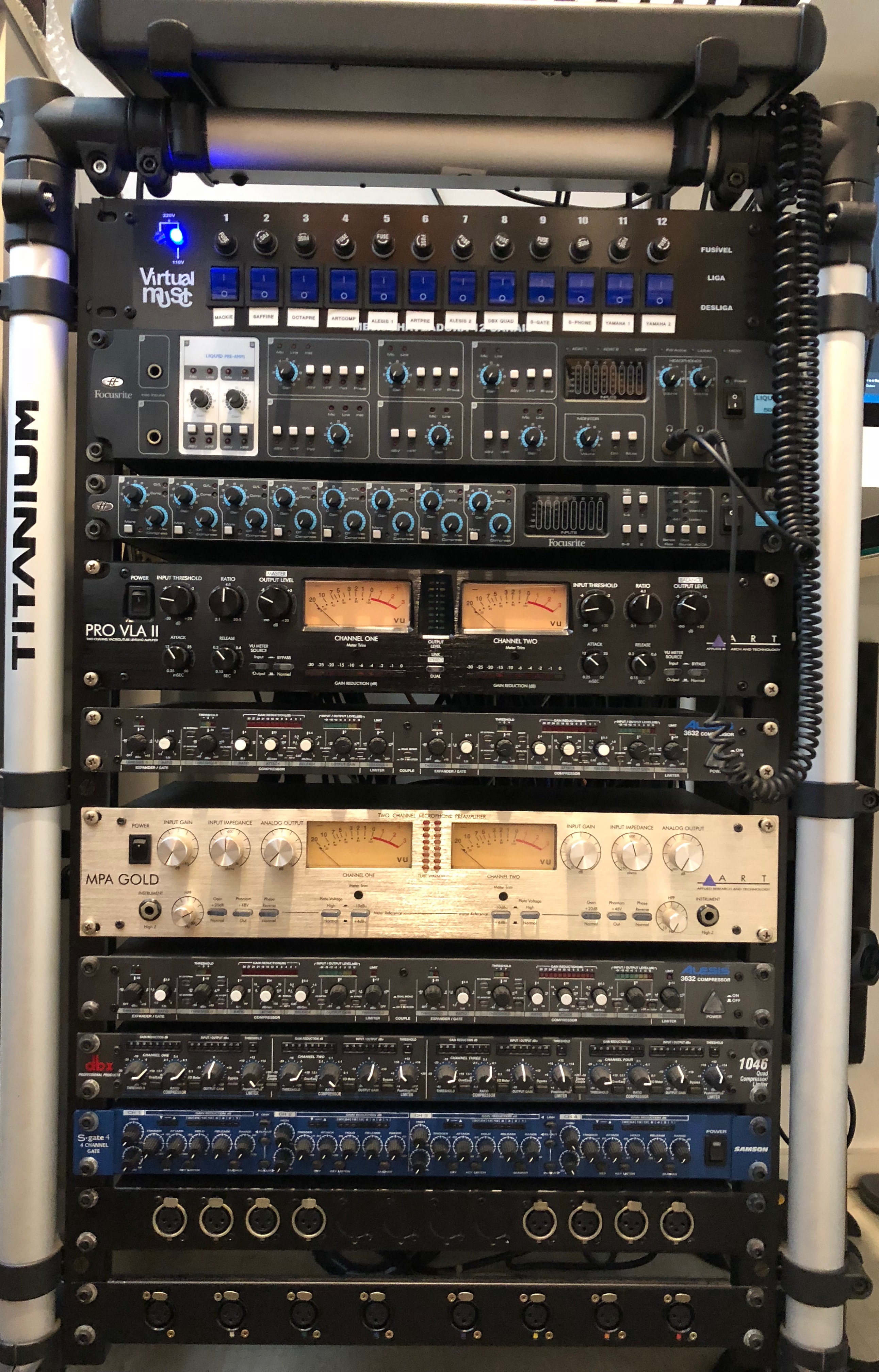 Qual o seu setup de gravação? Rack