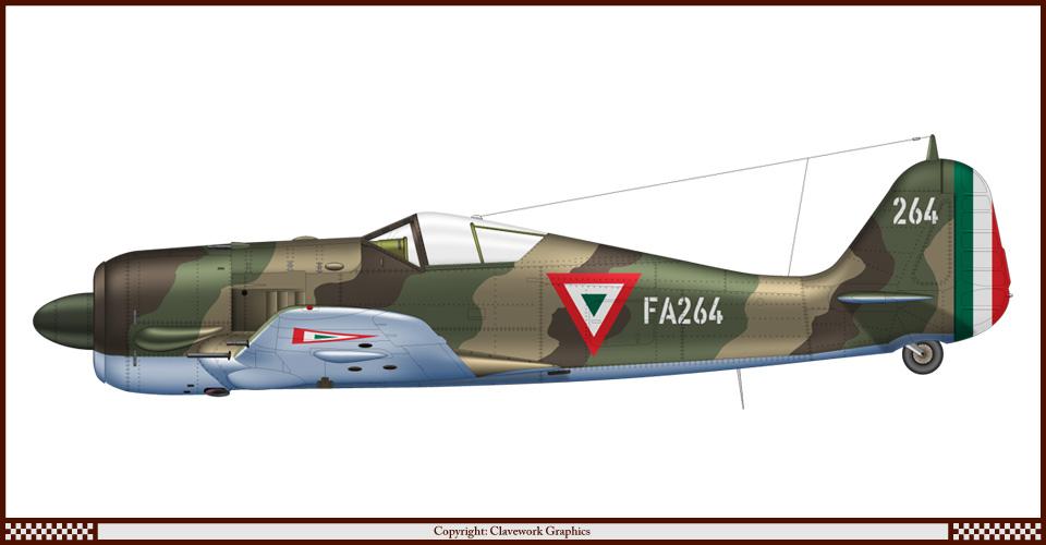 Focke Wulf-190 A de la FAM F264_Fw190A5_Mexico