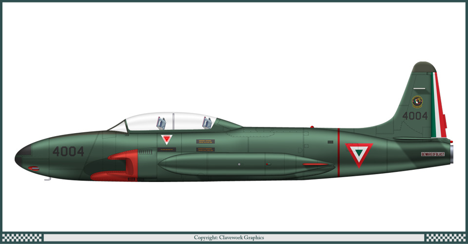 T-33 Fuerza Aerea Mexicana T33A_Mexico_2