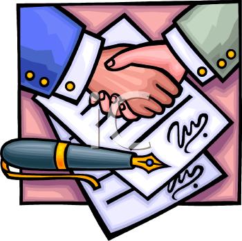 فن التفاوض !!! 0511-0809-0703-4604_Signing_a_Contract_Clip_Art_clipart_image