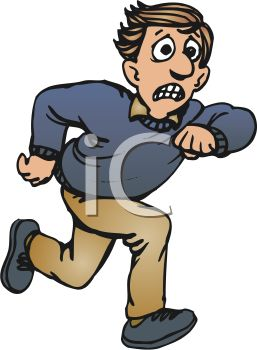 تعلم كيف تقدر غيرك 0511-0908-1722-5907_Cartoon_of_a_Scared_Man_Running_for_Help_clipart_image