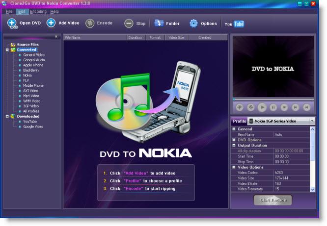 العملاق في تحويل الفيديو الى كل الصيغ حصريا Dvd-to-nokia-interface