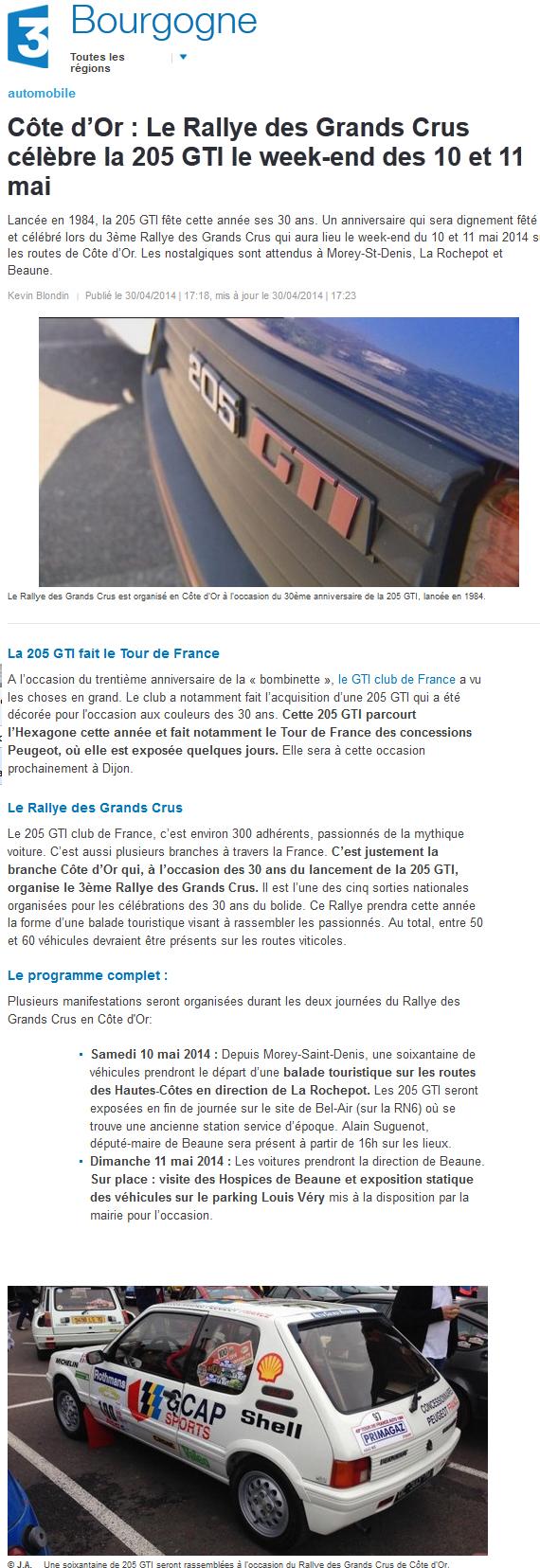 [21]  3ème Rallye des Grands Crus - 10 et 11 mai 2014 FR3-Bourgogne-20140430