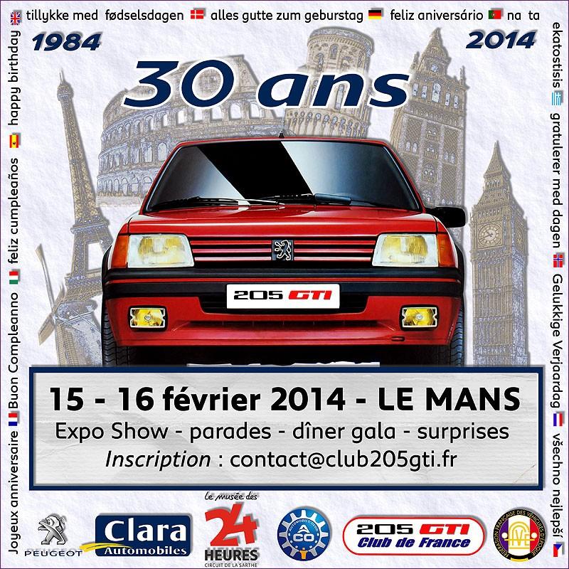 [72]205 GTI: 30ans! Son anniversaire au MANS 15 16/02/2014 Invitation_30ans_205GTI_800