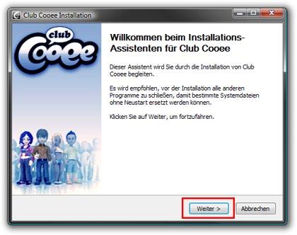 chat CLUB COOEE Download-setup-de