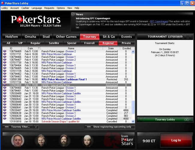 Freeroll Kill ELKY sur PS par club poker Lobby-1