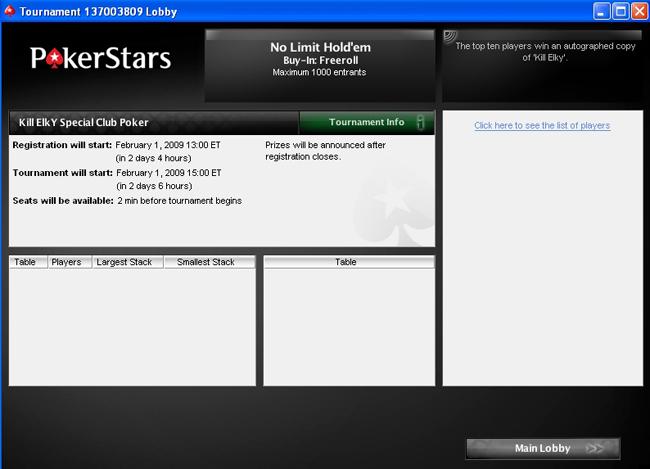 Freeroll Kill ELKY sur PS par club poker Lobby-2