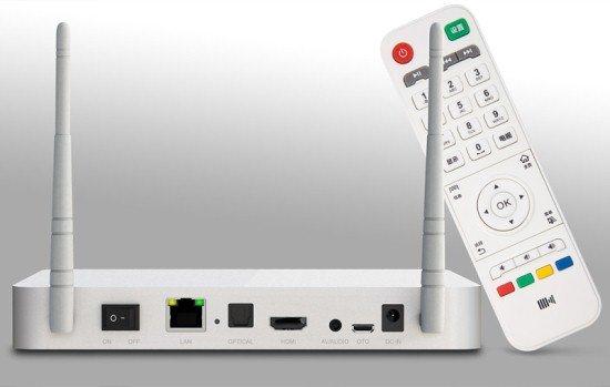 Kaiboer F4 / Ugoos UT1, une nouvelle box avec RK3188 Kaiboer_F4_ports_remote_control