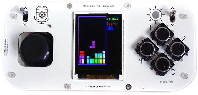 Microduino, un pad Arduino (Crowfunding) Microduino_Joypad_Tetris