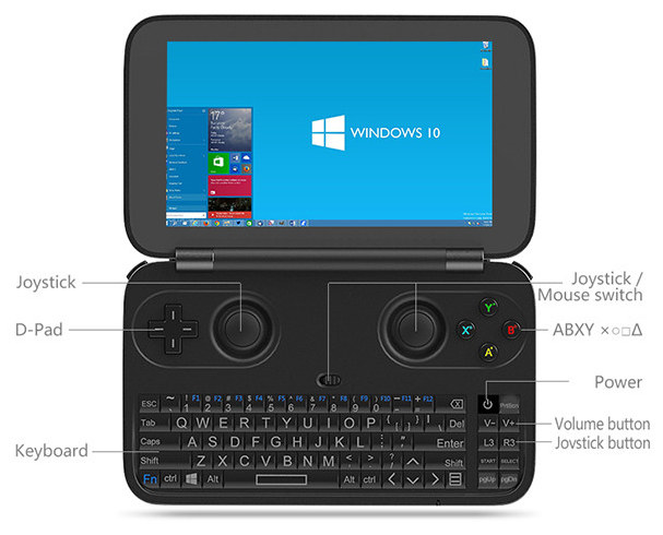 The World's First 5.5 Inch Handheld PC/Gaming Console Based on Windows 10 System. GPD_WIN