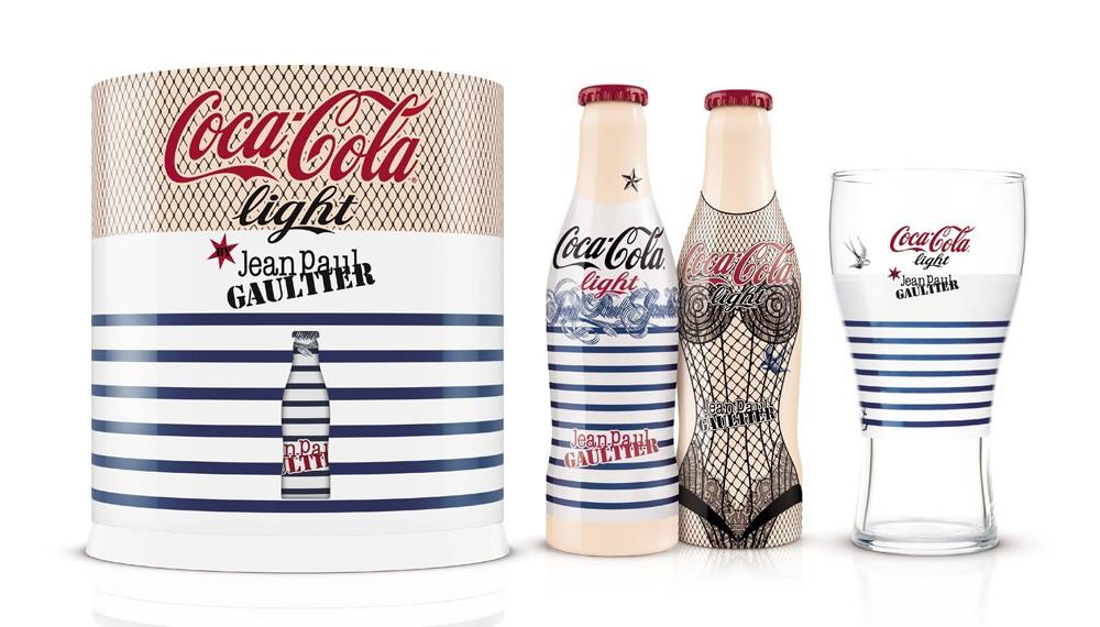 Cadeau bouteille personnalisée  Coca-Light-JP-Gaultier-Coffret