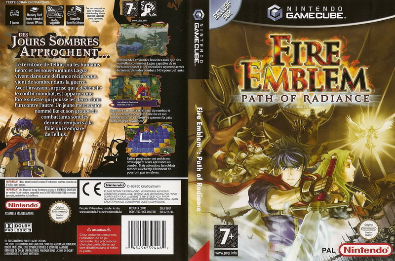 La plus belle jaquette de FE1 à FE 15! - Page 4 Fire_emblem__path_of_radiance_europe