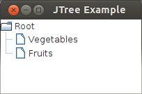 التعامل مع العناصر الرسومية فى الجافا باستخدام الشفرة (العنصر JTree) JTree%20Output%20with%202%20children