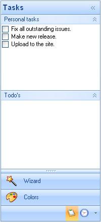 أداة القوائم للدوت نت Outlook Style Navigation Pane Control BarExpanded