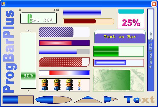 ProgBarPlus شريط حالة بالوان و انماط مختلفة و جملية للدوت نت مفتوح المصدر  ProgBarPlus