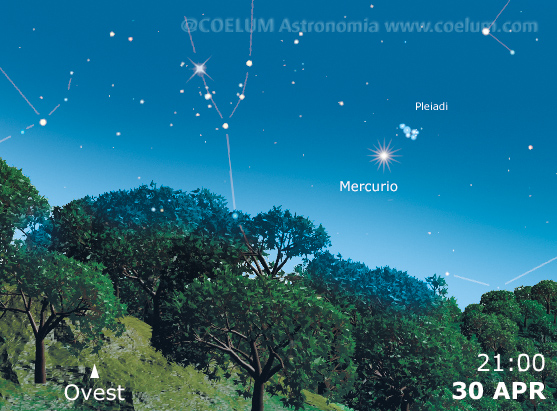 Il cielo del mese - Pagina 8 30-aprile-mercurio-pleiadi2