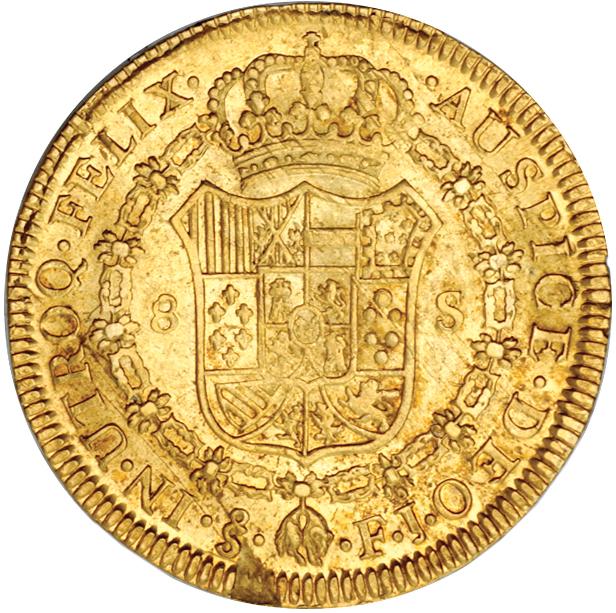 8 Escudos Fernando VII (Santiago, 1817) Chile_1817_8_escudos_rev_Eliasberg_1364