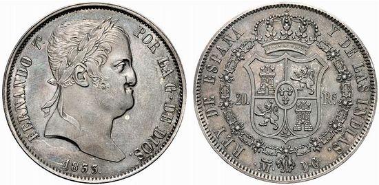 1 real 1845. Isabel II. Madrid 550px-Spain_1833M_20_reales_UBS_84-2476q00