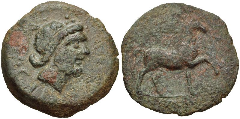 """Bronze grec EOLIDE et Drachme rutène """"aux feuilles aquatiques"""" [WM n° 7368] 101-sacili2190150"""