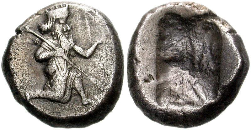 Siglo persa tipo IV , Dario II - Artaxerxes II 97-772996