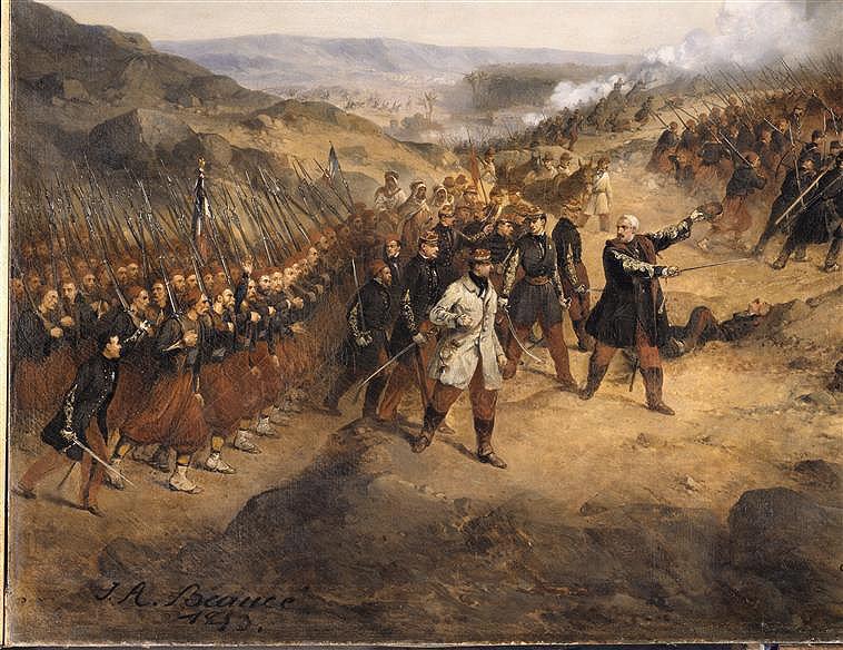 Le sabre de Napoléon Morand. L'histoire d'un sabre.  Takin_of_Laghouat_1852