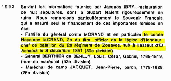 Le sabre de Napoléon Morand. L'histoire d'un sabre.  Tomb%20Morands