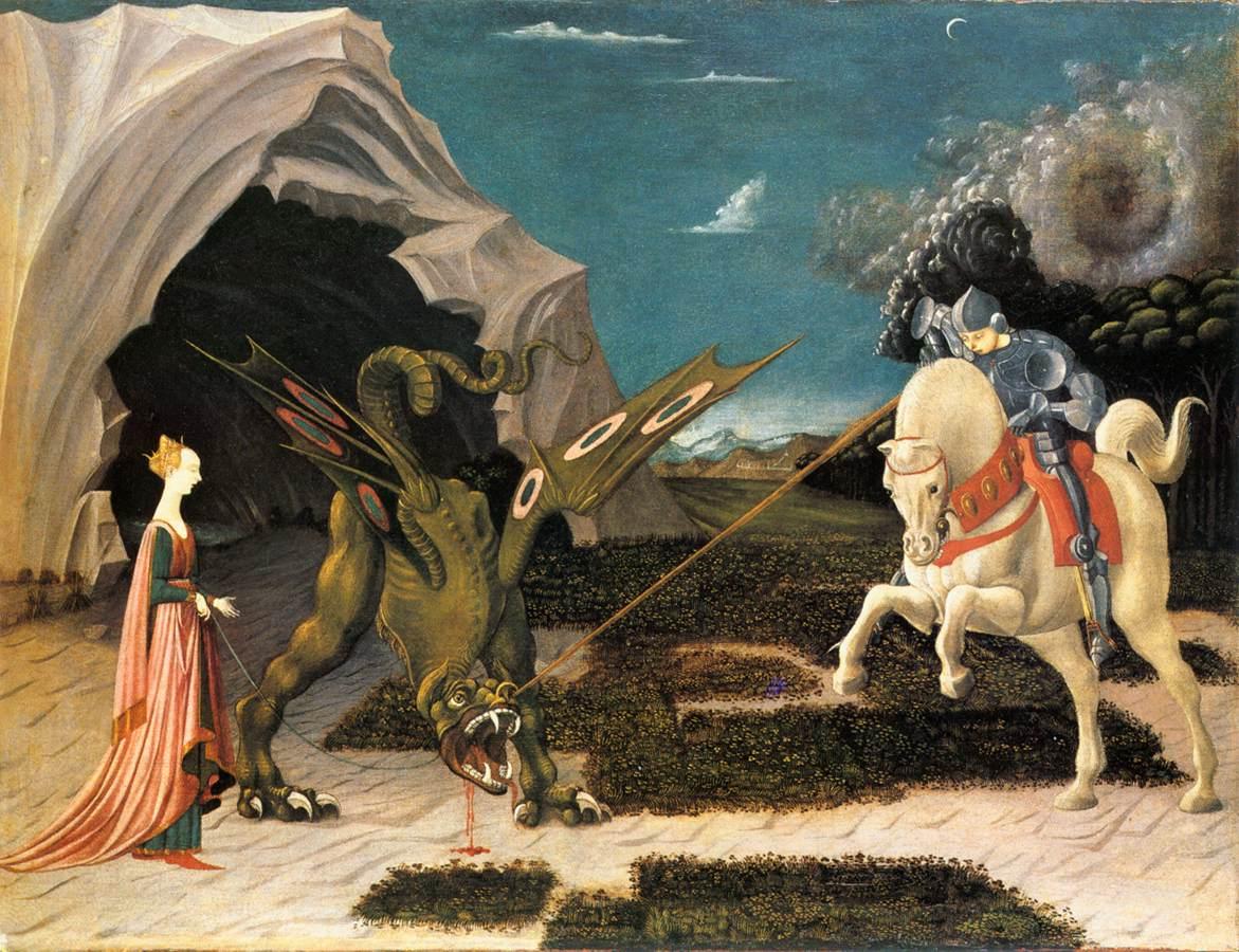 [peinture] Vos oeuvres préférées - Page 2 05_uccello-george-dragon-2218775900