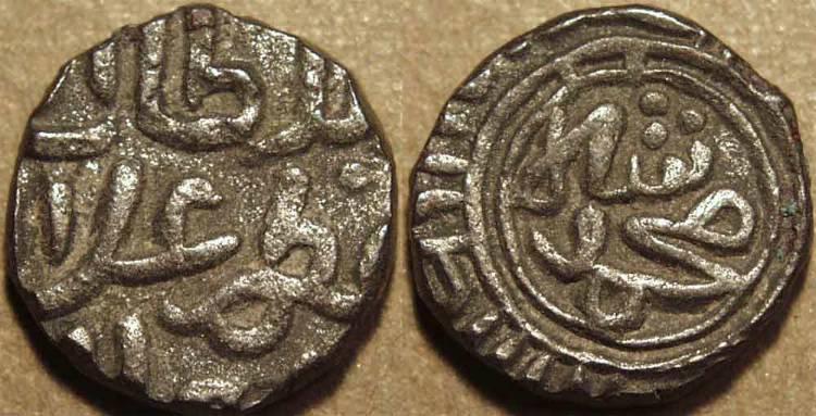 India - Sultanato de Dehli - 'Ala' al-din Muhammad Khalji (1296-1316) Billon 2-gani Coin3