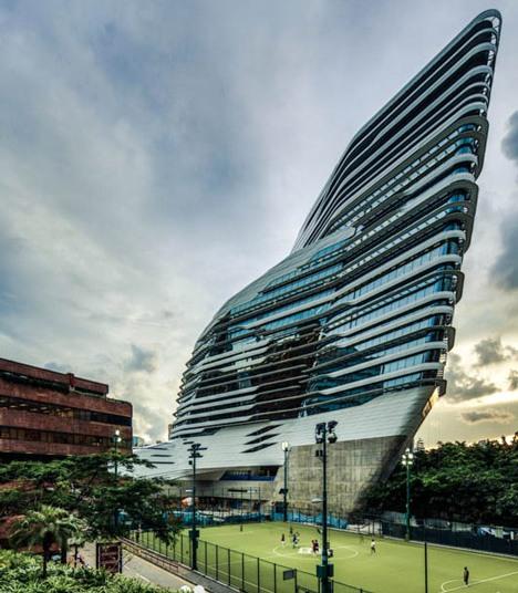 Zaha Hadid vodeći arhitekta sveta i njeni projekti Innovation-Tower-at-Hong-Kong-Polytechnic-University-by-Zaha-Hadid-Architects-9