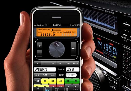 CommCat : Application Iphone/Ipad pour contrôle un émetteur-récepteur Ccm