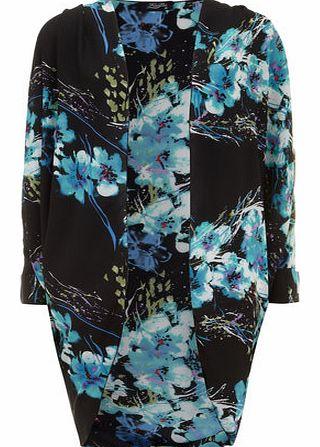 [US] CL na V Magazine  Dorothy-perkins-womens-fever-fish-black-blue-kimono-jacket-