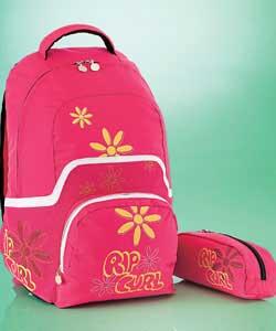 شنط مدرسية للبنات ..  Ripcurl-school-backpack-and-pencil-case