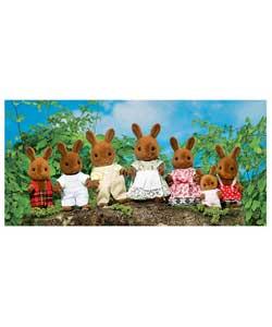 faire des customs de personnages petits malins Sylvanian-families-brown-rabbit-family