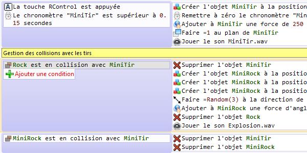 Game Develop : Logiciel de développement de jeux Events_fr